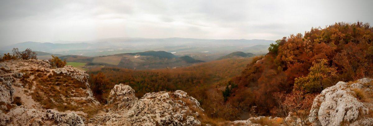 A Budai-hegység a Nagy-Kevélyről