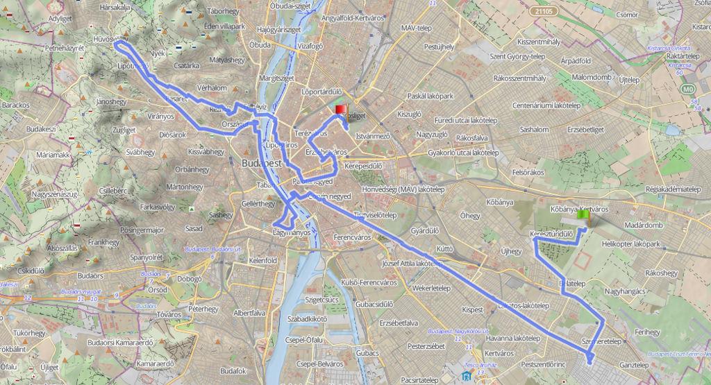 56 kilométer Budapesten