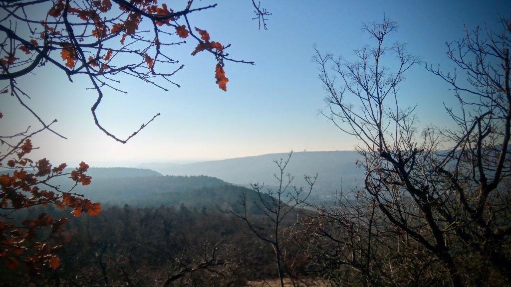 A Széchenyi-hegy az Újlaki-hegyről