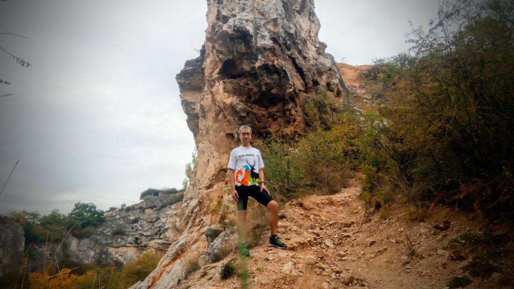 Befutó után a Róka-hegyi kőfejtőben